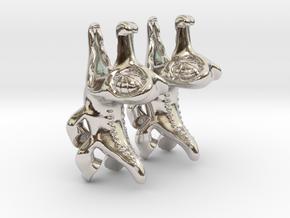 Gummy Earring in Rhodium Plated Brass