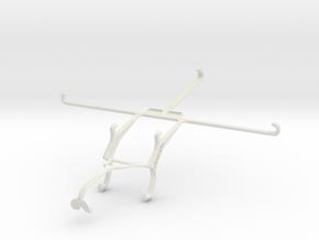 Controller mount for Xbox 360 & Dell Venue 8 7000 in White Natural Versatile Plastic