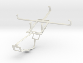 Controller mount for Xbox One & HTC Desire 700 in White Natural Versatile Plastic