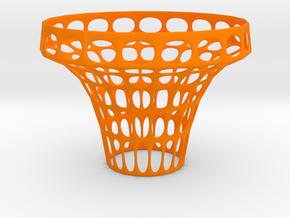 Clip on vase in Orange Processed Versatile Plastic