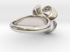 Knot Ring Size 7 in Rhodium Plated Brass