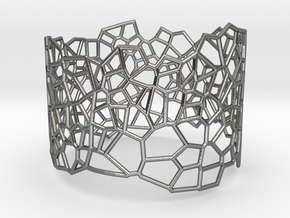 Voronoi Bracelet size M in Polished Silver