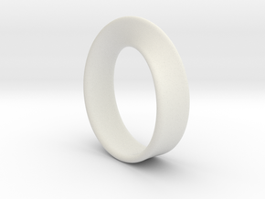 Moebius Ring - reference in White Natural Versatile Plastic