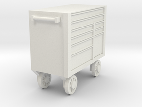 1/64 Big Tool Box Bottom End in White Natural Versatile Plastic