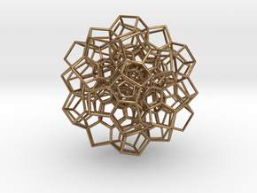 Partial 120-Cell, Perspective Projection-75 cells in Natural Brass