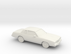 1/87 1983 Chevrolet Monte Carlo  in White Natural Versatile Plastic