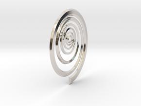 Spiral in Rhodium Plated Brass