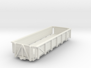 HOn30 Godchaux Sugar Cane Car - 2 Truck in White Natural Versatile Plastic