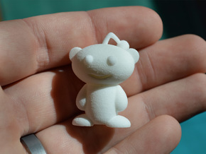 Tiny Snoo, Reddit Alien in White Natural Versatile Plastic