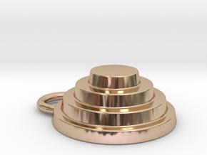 Devo Hat 15mm Earring ! All colours.... all materi in 14k Rose Gold
