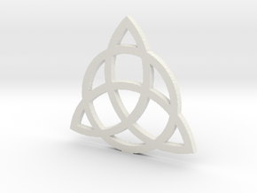 3.5 Triquetra in White Natural Versatile Plastic