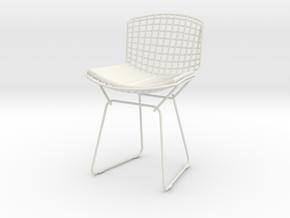 Knoll Bertoia 1/6 Scale in White Natural Versatile Plastic