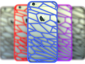Fracture case for iPhone 6 in Blue Processed Versatile Plastic