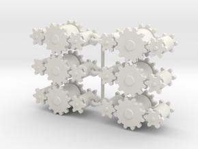 Gearring in White Natural Versatile Plastic