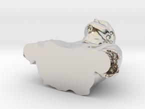 33812 in Rhodium Plated Brass