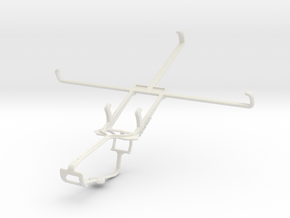 Controller mount for Xbox One & Toshiba Excite Go in White Natural Versatile Plastic