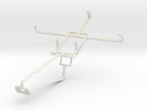 Controller mount for Xbox One Chat & verykool SL50 in White Natural Versatile Plastic