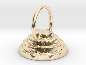 Devo Hat 15mm Earring / Pendant in 14k Gold Plated Brass