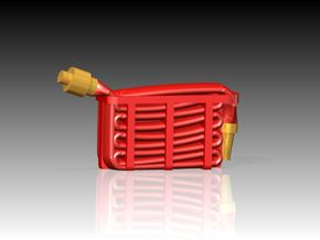 Fire Hose - Flaked x 6 1/72 in Smooth Fine Detail Plastic