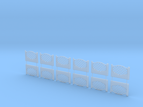 Concrete fencing spans at 1:87 HO scale Type C in Frosted Ultra Detail