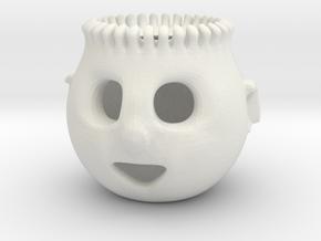 Earth Month 3DGEOM Celebration Pothead Meme in White Natural Versatile Plastic