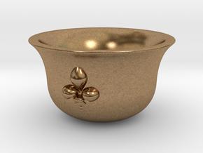Sake cup fleur-de-lis  in Natural Brass