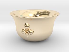 Sake cup fleur-de-lis  in 14k Gold Plated Brass