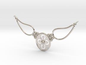 pendant with flower ET in Platinum