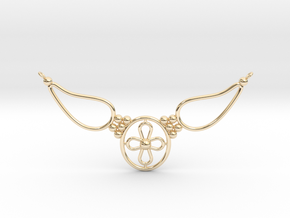 pendant with flower in 14K Yellow Gold