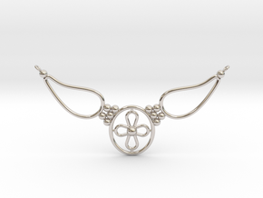 pendant with flower in Platinum