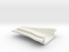 "NACA Intake Duct - 1/16"" panel 24 x 16 x 6 mm in White Natural Versatile Plastic"