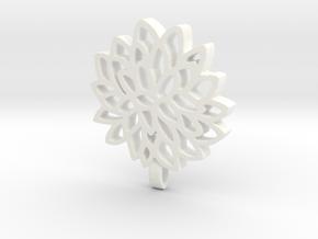 Carnation Pendant in White Processed Versatile Plastic