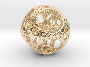 Apollonian Octahedron Supersmall in 14k Gold Plated Brass