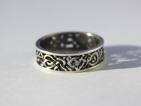 Viking Ring - size 10 1/2 (20.22mm) in Polished Silver