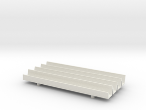 1/64th Fence Line Feedbunk - 120ft in White Natural Versatile Plastic