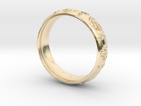 Tree of life DNA men's ring size 10 in 14K Yellow Gold