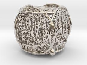 Katy Pendant in Rhodium Plated Brass