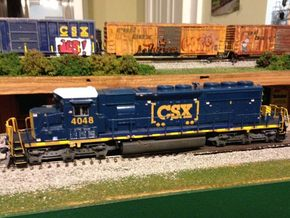 HO scale 1:87 CSX SD40-3 Wabtec Cab in Frosted Ultra Detail
