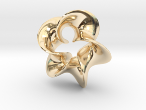 Star Flower 2 in 14k Gold Plated Brass