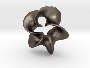 Star Flower 2 in Polished Bronzed Silver Steel