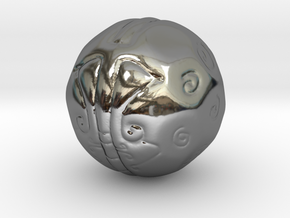 Thought Ball in Fine Detail Polished Silver
