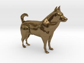 """Shepherd Dog - 5 cm / 2"""" in Natural Bronze"""