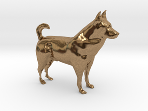 "Shepherd Dog - 5 cm / 2"" in Natural Brass"