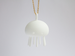 Jelly time! Jellyfish Pendant in White Processed Versatile Plastic