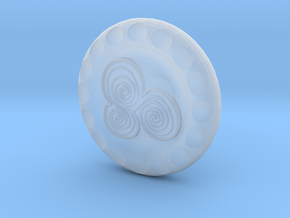Golf Ball Marker Celtic in Smooth Fine Detail Plastic