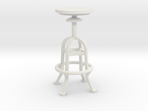 1:24 Mechanical Stool (Not Full Size) in White Natural Versatile Plastic