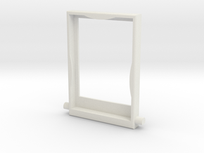 Screen Bezel in White Natural Versatile Plastic