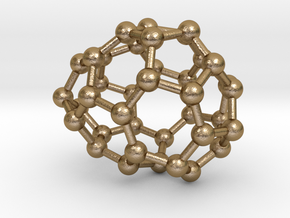 0084 Fullerene c38-3 c1  in Polished Gold Steel