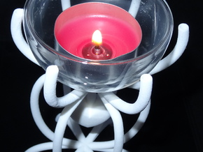 Heart in a cage tea light holder in White Strong & Flexible