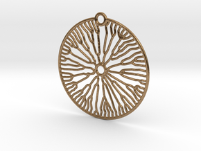 Fluid Pendant in Natural Brass